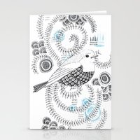 Blue King 3 Stationery Cards