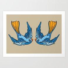 Swallow Tattoo Art Print