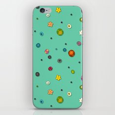 mint pop flower spot iPhone & iPod Skin