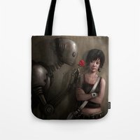 Robot In Love Tote Bag