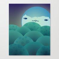Moonlit Hills Canvas Print