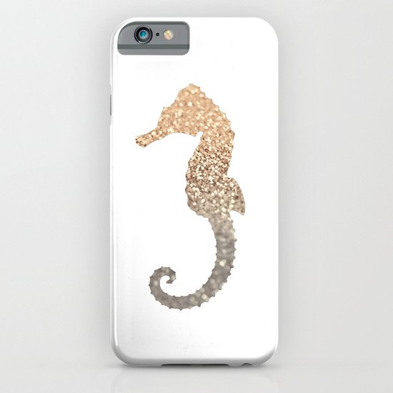 GOLD SEAHORSE iPhone & iPod Case