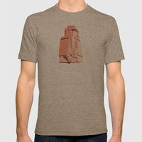 Rock Study Mens Fitted Tee Tri-Coffee SMALL