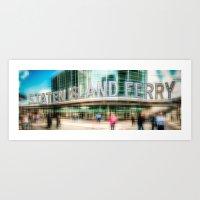 NYC - Staten Island Ferry -ld Art Print