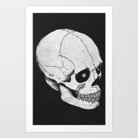 Skull Sketch Art Print