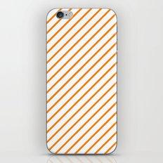 Diagonal Lines (Orange/White) iPhone & iPod Skin
