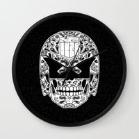 Day of the Dredd - Black Wall Clock