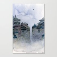 grey moon Canvas Print