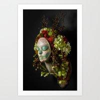 Acorn Harvest Muertita Art Print