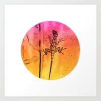 Abstract colors in everywhere Art Print