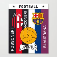 Football AC Milan Juventus Barcelona Art Print Poster Canvas Print