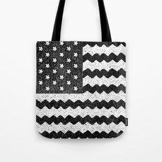 Black Zig Zag Flag Tote Bag