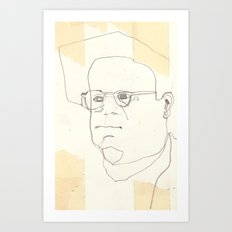 Line Glasses Art Print