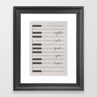Coldplay Piano Fix You Framed Art Print