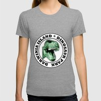 Dinosaur Park Womens Fitted Tee Tri-Grey SMALL