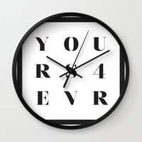 YOURS FOR EVER Wall Clock