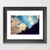 Cloud Burst Framed Art Print