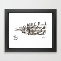 Watling Avenue, Burnt Oak Framed Art Print