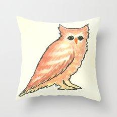 Fade in Owl Throw Pillow