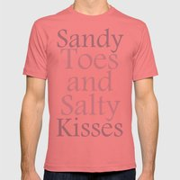 Sandy toes and salty kisses- the sea Mens Fitted Tee Pomegranate SMALL