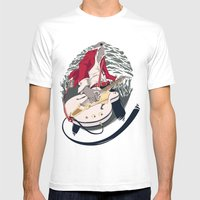 GRETSCH WHITE FALCON Mens Fitted Tee White SMALL