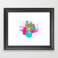 Fortune Feather Teller Framed Art Print
