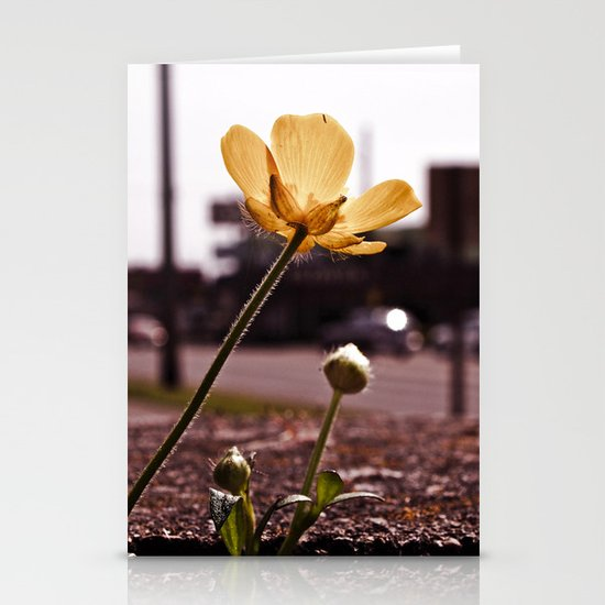 Urban buttercup Stationery Card