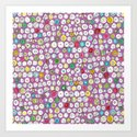 buttons and bees Art Print