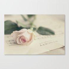 Menuett (vintage rose) Canvas Print