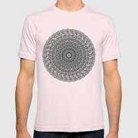Mandala Mens Fitted Tee Light Pink SMALL