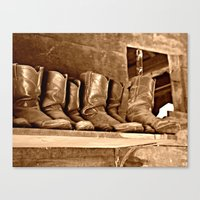 Boots Canvas Print