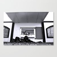 Canvas Print featuring Dead American bank by Vorona Photography