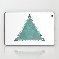 Merkaba Triangle Green Laptop & iPad Skin