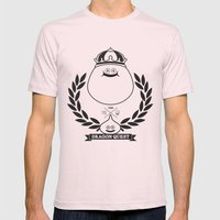 Dragon Quest Slime Monog… Mens Fitted Tee Light Pink SMALL