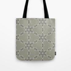 Warm gray hexagon pattern Tote Bag
