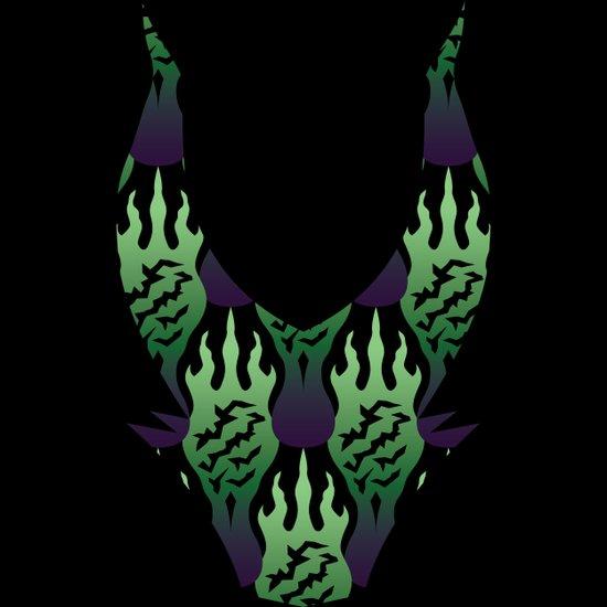 SCORCH pattern ~ Maleficent  Canvas Print