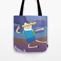 Finn the Human is gonna KICK YOUR BUTT! Tote Bag