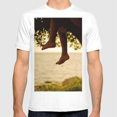 Sunset SMALL White Mens Fitted Tee