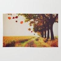 Autumn tree. Rug