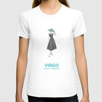 Virgo Womens Fitted Tee White SMALL