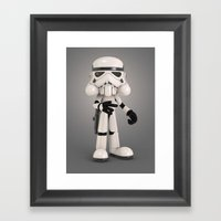 Skull Trooper Framed Art Print