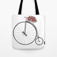 Christmas Bicycle Tote Bag