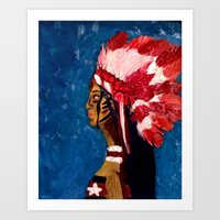 native american Art Prints featuring Native American by Ksuhappy