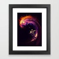 Space Surfing Framed Art Print