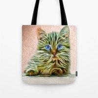 Cat Art Illustration Tote Bag