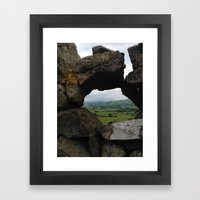 Rock Wall Window Framed Art Print