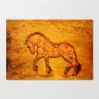 HORSE - Steampunk   Canvas Print