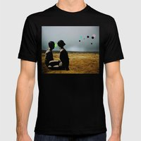The Looking Field Mens Fitted Tee Black SMALL