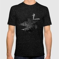 Space Diving Mens Fitted Tee Tri-Black SMALL