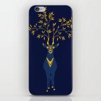 Golden deer iPhone & iPod Skin